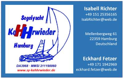 Visitenkarte KeHHrwieder Vorderseite